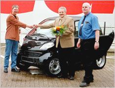 Karsten M. aus Oldenburg gewann einen Smart.